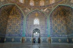 Sheikh Lotfollah Mosque. Beautiful architecture and art work in Sheikh Lotfollah Mosque Stock Photography
