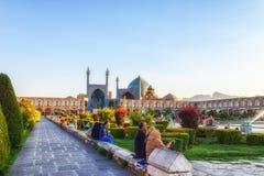 Sheikh Lotfollah Mosque em Isfahan, Irã foto de stock