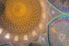 Sheikh Lotfollah Mosque in Isfahan, Iran Stock Images