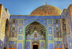 Sheikh Lotfollah Mosque on Naqsh-e Jahan Square Stock Photography