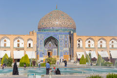 Sheikh Lotfollah Mosque at Naqsh-e Jahan Square in Isfahan, Iran Royalty Free Stock Photography