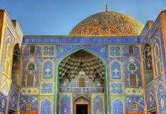 Sheikh Lotfollah Mosque no quadrado de Naqsh-e Jahan fotografia de stock