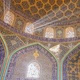 Sheikh μουσουλμανικό τέμενος Lotfollah στο τετράγωνο naqhsh-ε Jahan στο Ισφαχάν Στοκ Εικόνα