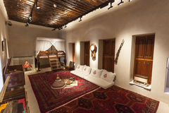 Sheikh room in a museum of Sharjah, UAE Royalty Free Stock Images