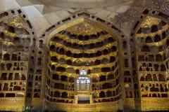 Sheikh Safi mausoleum. Niches in the 17th century Chini Khaneh of the Sheikh Safi mausoleum in Ardabil, Iran Stock Photos