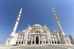 Sheikh Zajed Mosque in Fujairah Stockbilder