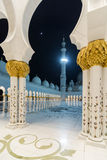 Sheikh μεγάλο μουσουλμανικό τέμενος Zayed Στοκ εικόνα με δικαίωμα ελεύθερης χρήσης