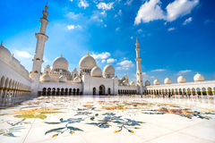 Sheikh μουσουλμανικό τέμενος Zayed, Αμπού Ντάμπι Στοκ Φωτογραφίες