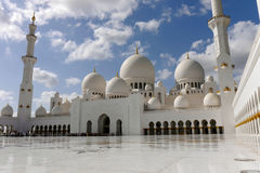 Sheikh Zayed Abu Dhabi, UAE Arkivbild