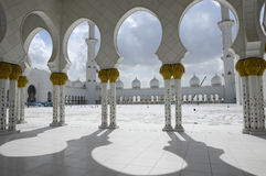 Sheikh Zayed Al Nahyan Mosque - Abu Dhabi royalty free stock images