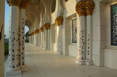 Sheikh Zayed Al Nayhan Mosque Stock Photos