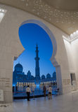 Sheikh Zayed błękita Meczetowy światło Zdjęcie Royalty Free