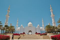Sheikh Zayed Bin Sultan Al Nahyan Mosque in Abu Dhabi Royalty Free Stock Images