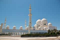 Sheikh Zayed Bin Sultan Al Nahyan Mosque in Abu Dhabi Stock Images
