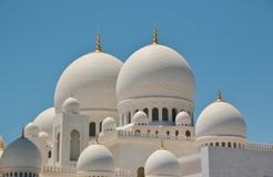 Sheikh Zayed Bin Sultan Al Nahyan Mosque in Abu Dhabi Royalty Free Stock Photography