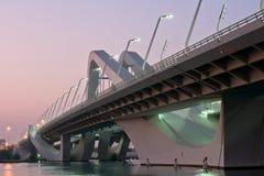 Sheikh Zayed Bridge, Abu Dhabi, UAE Royalty Free Stock Photos
