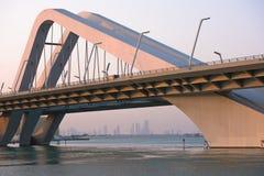 Sheikh Zayed Bridge, Abu Dhabi, UAE Stock Photography
