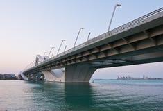 Sheikh Zayed Bridge, Abu Dhabi, UAE Royalty Free Stock Photography
