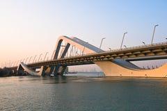 Sheikh Zayed Bridge, Abu Dhabi, UAE Stock Photo