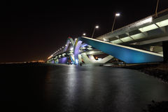 Sheikh Zayed Bridge at night Royalty Free Stock Photos