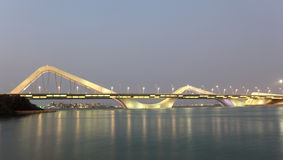 Sheikh Zayed Bridge at night, Abu Dhabi Royalty Free Stock Photography