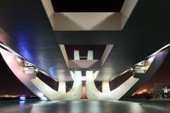 Sheikh Zayed Bridge at night, Abu Dhabi Royalty Free Stock Images