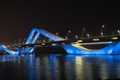 Sheikh Zayed Bridge at night, Abu Dhabi, UAE Royalty Free Stock Image