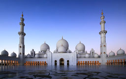 Sheikh Zayed Grand Mosque. Abu Dhabi-This architectural work of art is one the world's largest mosques, with a capacity for an astonishing 41,000 worshippers Royalty Free Stock Photography
