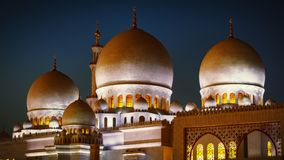 Sheikh Zayed Grand Mosque in Abu Dhabi 19 Stockbilder