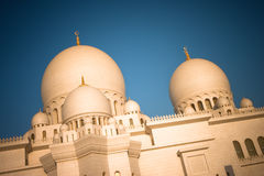 Sheikh Zayed Grand Mosque Abu Dhabi. In afternoon sunlight Royalty Free Stock Images