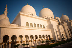 Sheikh Zayed Grand Mosque Abu Dhabi. In afternoon sunlight Royalty Free Stock Photos