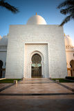 Sheikh Zayed Grand Mosque Abu Dhabi. In afternoon sunlight Royalty Free Stock Photography