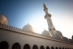Sheikh Zayed Grand Mosque Abu Dhabi. In afternoon sunlight Royalty Free Stock Photo
