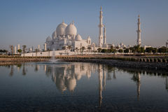Sheikh Zayed Grand Mosque in Abu Dhabi. Sheikh Zayed Mosque in Middle East United Arab Emirates Abu Dhabi Royalty Free Stock Image
