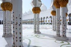 Sheikh Zayed Grand Mosque in Abu Dhabi Lizenzfreies Stockfoto