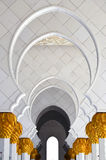 Sheikh Zayed Grand Mosque Abu Dhabi. In afternoon sunlight Stock Photography