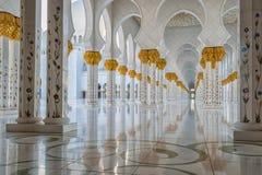 Sheikh Zayed Grand Mosque, Abu Dhabi, de V.A.E op 23 Oktober, 2014 Stock Foto