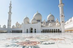 Sheikh Zayed Grand Mosque in Abu Dhabi, die Hauptstadt von Vereinigte Arabische Emirate Stockfotos