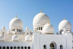 Sheikh Zayed Grand Mosque in Abu Dhabi, die Hauptstadt von Vereinigte Arabische Emirate Lizenzfreie Stockbilder