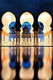 Sheikh Zayed Grand Mosque in Abu Dhabi at Dusk royalty free stock image