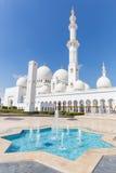 Sheikh Zayed Grand Mosque, Abu Dhabi, Emirati Arabi Uniti Immagine Stock Libera da Diritti