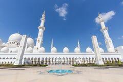 Sheikh Zayed Grand Mosque, Abu Dhabi, Emirati Arabi Uniti Immagini Stock Libere da Diritti