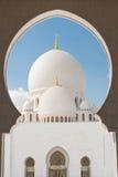 Sheikh Zayed Grand Mosque, Abu Dhabi, Emirati Arabi Uniti Fotografie Stock Libere da Diritti