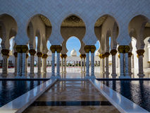 Sheikh Zayed Grand Mosque in Abu Dhabi royalty free stock photos