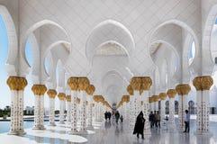 Sheikh Zayed Grand Mosque Abu Dhabi, Förenade Arabemiraten Arkivbild
