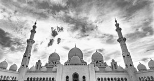 Sheikh Zayed Grand Mosque Abu Dhabi Stock Photos