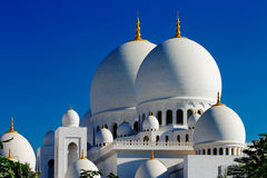 Sheikh Zayed Grand Mosque, Abu Dhabi is grootst in de V.A.E Royalty-vrije Stock Foto