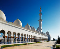 Sheikh Zayed Grand Mosque, Abu Dhabi is grootst in de V.A.E Stock Foto