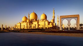 Sheikh Zayed Grand Mosque in Abu Dhabi 16 Stock Image
