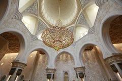 Sheikh Zayed grand mosque abu dhabi Stock Photos